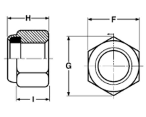 metric fine thread nylon  insert lock nuts